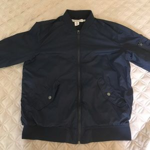 H&M men's navy blue bomber jacket size M